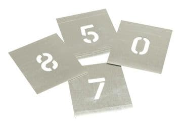 Set of Zinc Stencils - Figures 1.1/2in